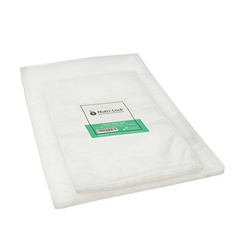 Nutri-Lock Vacuum Sealer Bags. 100 Bags - 50 Quart and 50 Gallon Multi-Pack. Commercial Grade Food Sealer Bags for FoodSaver, Sous Vide