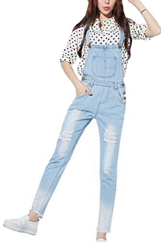 Claires Dchir Taille Combinaisons des Tenue Jean Bleues L'ensemble Haute yulinge API7n