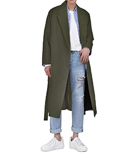Coat Jacket Mens Outwear Down Coat Army Autumn Parka Collar Energy Green Khaki Turn Rq5tq