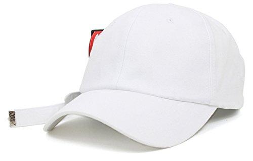 Teamlife Unisex Long Tail Strapback Womens Mens Baseball Cap Adjustable Size K-Pop Hip Hop Hat Trucker (White) by Teamlife