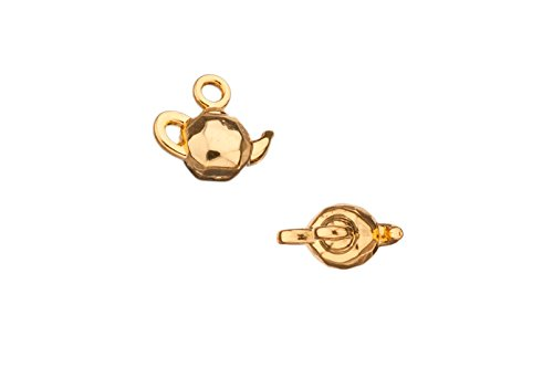 (Kettle Gold-Finished Charm 12X11mm sold per 4pcs/pack (6packs bundle), SAVE $5)