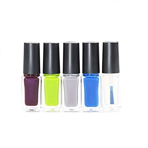 (HCFKJ 5Pcs Nail Art Stamping Polish Nail Palisade Latex Manicure Set B)