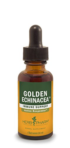 Herb Pharm Certified Organic Golden Echinacea Extract for Immune System Support - 1 Ounce