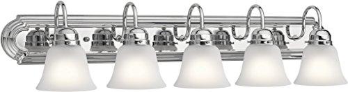 Kichler Lighting 5339CHS Five Light Bath, Chrome (Bathroom Chrome Kichler Bulbs)