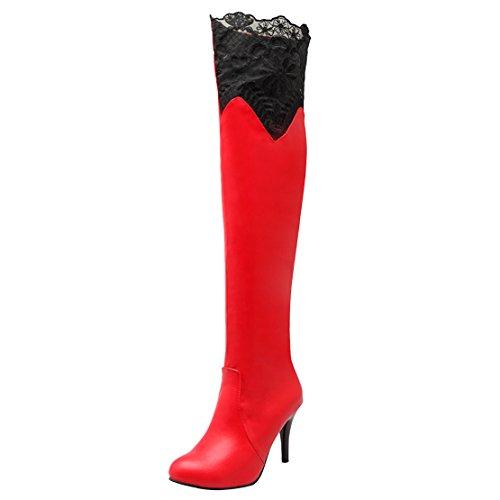 Women's AIYOUMEI Red Women's Red AIYOUMEI Classic Boot Women's Boot Classic AIYOUMEI Boot Classic Aqz7Bn74
