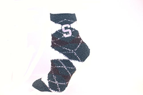 Official Nba White Tube Socks (Michigan State Spartans Argyle Fuzzy Lounge Socks)