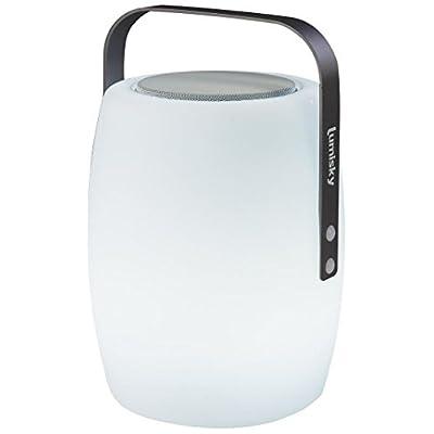 Lumisky Lucy Play lampada nomade 2in 1luminosa/musicale con Bluetooth, alluminio/Plastica, 10W, bianco