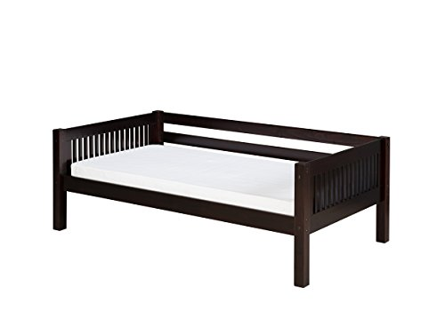 (Camaflexi Mission Style Solid Wood Day Bed, Twin, Cappuccino)