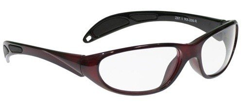 Crimson Red Extreme Stylish, Lightweight, Comfortable Wrap-Around Plastic sytle Frame that is desinged to hug the contour of your fac e blocking light from all angles, Clear lenses are Anti-Reflective, Scratch Resistant and have UV (Frame Crimson Red Lens)