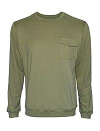 Ruiqi Reach Men's Tshirt Jersey Long Sleeve T Shirt Men Cotton Heavyweight Workwear