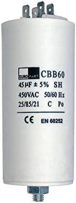 Condensatore con bandiere e vite di fissaggio CBB60 45,00/μF 450 Volt