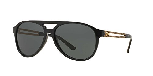 Versace Mens Sunglasses (VE4312) Black/Grey Plastic,Nylon - Non-Polarized - - Sunglasses Man Versace