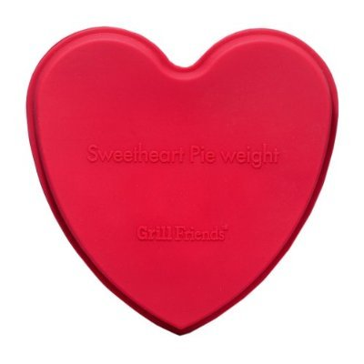 Elizabeth Karmel's 5- by 5.5-inch Red Silicone Sweetheart Pie Weight (Pie Weight Crust Chain)