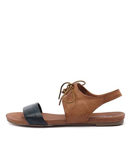 James JULIETTE TAN DJANGO NAVY amp; Sandals Sandals LEATHER Summer Flat Womens 7PEnqRExTw