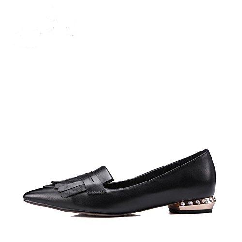 Borlas con moda de primavera/verano de zapatos puntiagudos plana/Joker viajes zapatos del trabajo profesional A