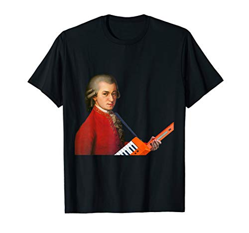 Wolfgang Amadeus Mozart with a Keytar Cool T-Shirt