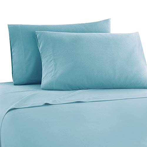 Meraki ! Soft & Comfortable ! 11 Inch Extra Deep Pocket Full XL Camper Sheet Set (53x79) for RV- Trucks, Campers and Motorhomes Solid Baby Blue - 1800 Series Brushed Microfiber Sheets (53 Series Baby Mattress)