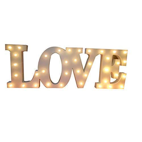 Decorative Wooden LED Letters Light