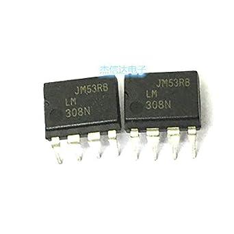 5PCS DIP-8 308N amplificadores operacionales LM308 LM308N Nuevo