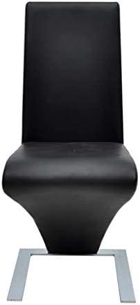 E E-NICES Chaises de Salle à Manger 4 pcs Noir Similicuir