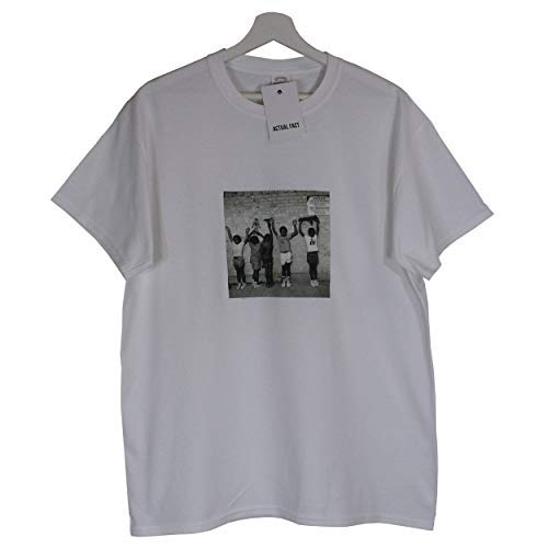 Enfants T shirt Blanc Noir Ras Hip Hop Nas Album Urbain Actual amp; Rappeur Cou Fact De qZ6Cw6E