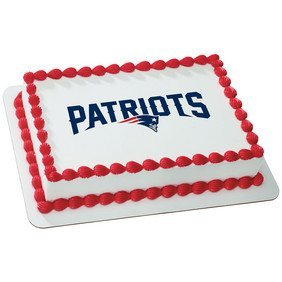 New England Patriots Licensed Edible Cake Topper #35400