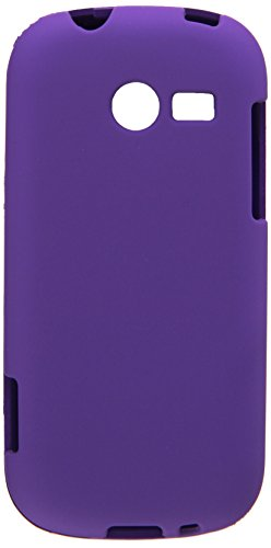 Aimo Wireless SAMM390PCLP014 Rubber Essentials Slim and Durable Rubberized Case for Samsung Array/Montage M390 - Retail Packaging - Purple (Samsung M390 Phone Case)