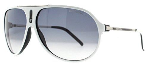 Carrera Hot/S Sunglasses White Black / Palladium / Gray Gradient & Cleaning Kit Bundle