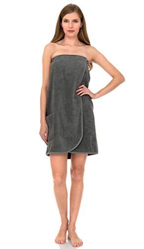 TowelSelections Women's Wrap, Shower & Bath, Terry Spa Towel X-Large Wild Dove