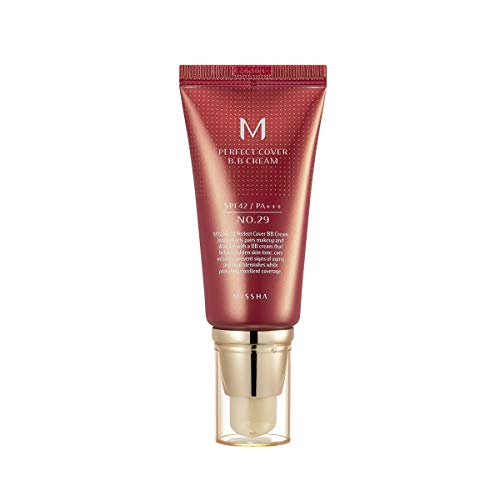 Missha M Perfect Cover BB Cream SPF 42 PA+++(#29 Caramel Beige), Amazon Code Verified for Authenticity, 50ml, Concealing…