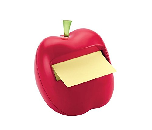 WEIYI Dedicated Sticky Notes Apple-Shaped Dispenser (Red)