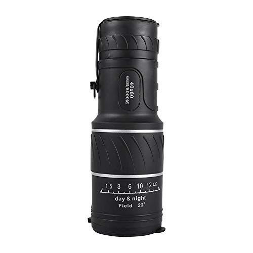 Filfeel 40 x 60 Dual Focus Monocular Telescope,Green Prism Film Optics,Waterproof, Monocular Scope Bird Watching/Hunting/Camping/Hiking/Golf/Concert/Surveillance Black