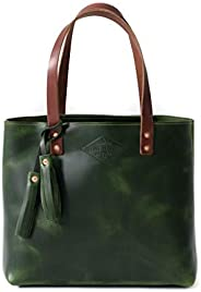 Green Leather Tote Bag for Women, Green Leather Bag, Leather Handbag, Womens Bag Green, Leather Purse, Diaper,