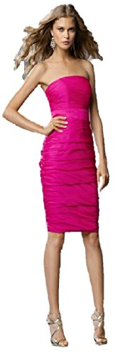 WTOO By Watters And Watters Women's Bridesmaid Dress 14 Raspberry