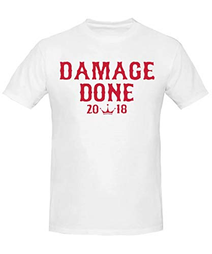 Damage Done Boston Series 2019 Champions-Camiseta de algod¨n para Hombre,Color gris,Evelen men'shirt