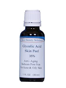 (1 oz / 30 ml) GLYCOLIC Acid 35% Skin Chemical Peel - Unbuffered - Alpha Hydroxy (AHA) For Acne, Oily Skin, Wrinkles, Blackheads, Large Pores & More (from Skin Beauty Solutions) made by Skin Beauty Solutions