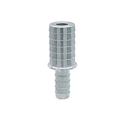 ICT Billet 5/8 to 3/8 Inch Hose Barb Splice Coupler Reducer Repair Fitting Adapter Connector Radiator Coolant Intercooler Heat Exchanger Fluid Designed & Manufactured in USA Bare Aluminum AN627-10-06A: Automotive