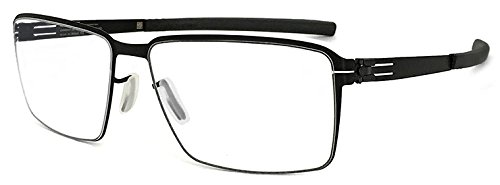 (アイシーベルリン) ic!berlin メガネ Jens K. ワイド 眼鏡 black スクエア ビック メンズ 男性用【並行輸入品】 B076MT8MLW