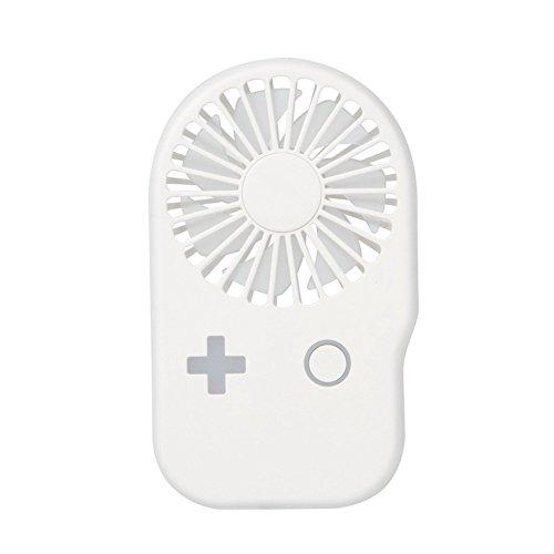 Ourhomer  Clearance Sale Protable Handheld Fan USB Mini Electric Fan Pocket Fan 2-Speed Wind Adjustable (white)