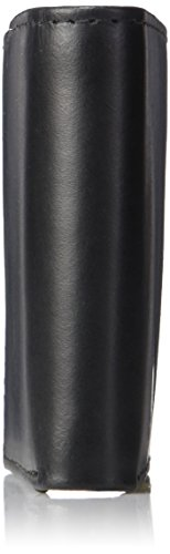 Calvin Klein Men's Leather Bifold Wallet w/ Key Fob,Black,One Size