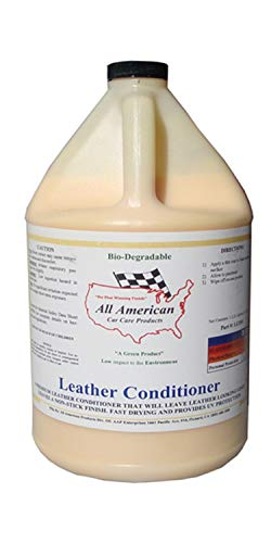 All American Car Care Products Leather Conditioner - Premium Mink Oil Enriched Moisturizer for Fine Automotive Leather (1 Gallon) (Best Leather Restoration Products)