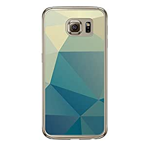 Loud Universe Samsung Galaxy S6 Geometrical Printing Files A Geo 14 Printed Transparent Edge Case - Blue