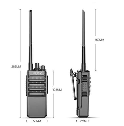 HDJ Walkie Talkies,High Power 50 Km Waterproof Handheld Engineering Property Walkie (Black, 1 Pair) by HDJ (Image #5)
