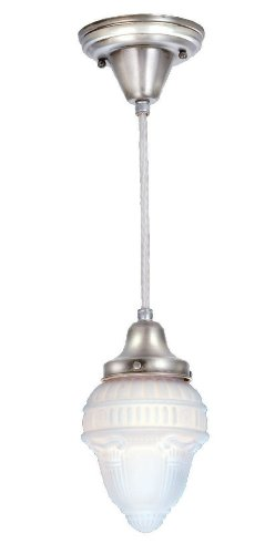 Meyda Tiffany 50626 Schoolhouse Collection 1-Light Mini-Pendant, Antique Nickel Finish with Colonnade Globe