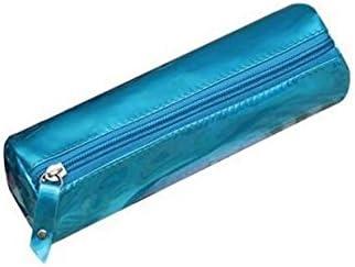 Peino - Estuche redondo para lápices, bolsa de papelería, soporte para bolígrafos, bolsa de cosméticos, caja de ceras (plata): Amazon.es: Hogar