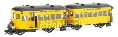 On30 Spectrum Rail Bus & Trailer w/DCC, PL from Bachmann Trains