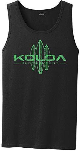 Koloa Vintage Surfboard Logo Tank Top-Black/green-2XL