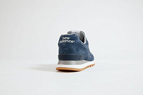 New Balance scarpe uomo NBML574FSN, colore blu, tomaia in crosta