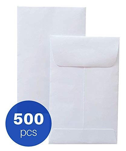 #1 Coin and Small Parts Envelopes, White and Thick, 2-1/4 x 3-1/2, 500 per Box