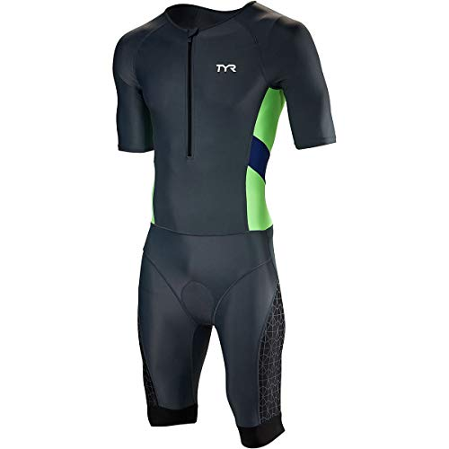 TYR Competitor Speedsuit - Men's Grey/Navy, L